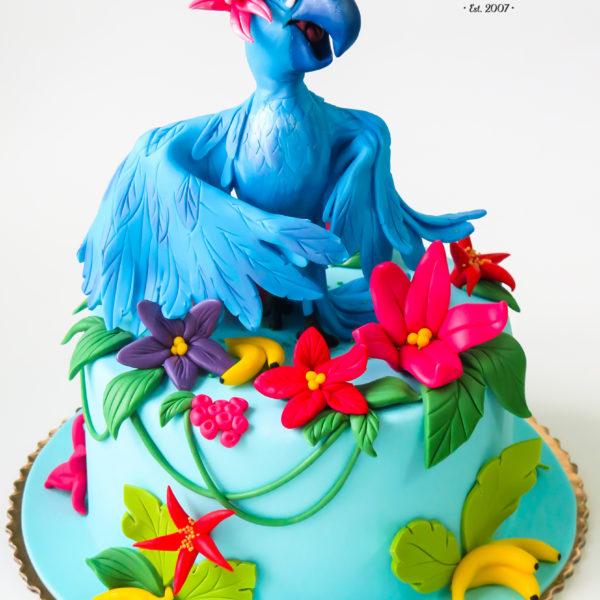 U390 - tort urodzinowy, na urodziny, dla dzieci, artystyczny, rio, warszawa