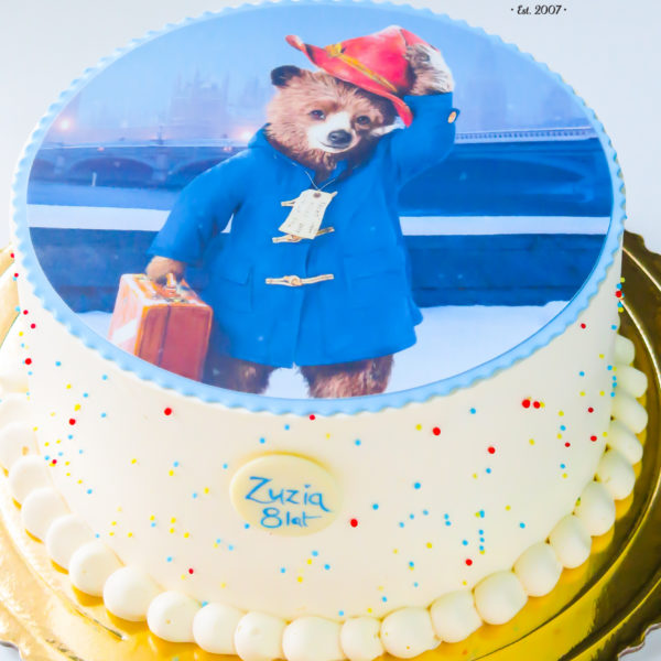 U391 - tort urodzinowy, na urodziny, klasyczny, miś, paddington, warszawa