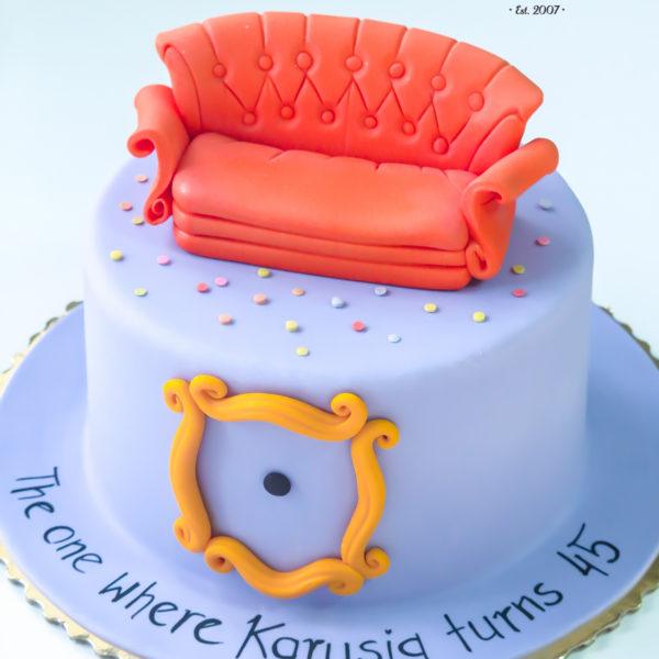 U392 - tort urodzinowy, na urodziny, artystyczny, przyjaciele, dla przyjaciół, warszawa, z dostawą, friends