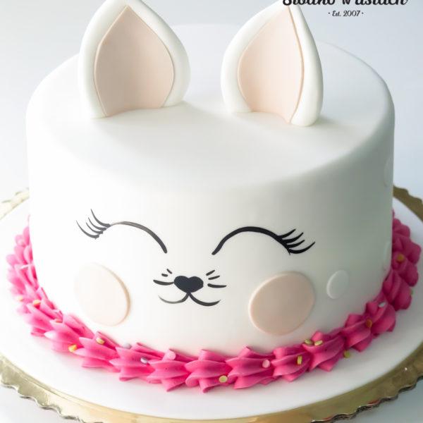 U401 - tort urodzinowy, na urodziny, dla dzieci, artystyczny, kotek, warszawa