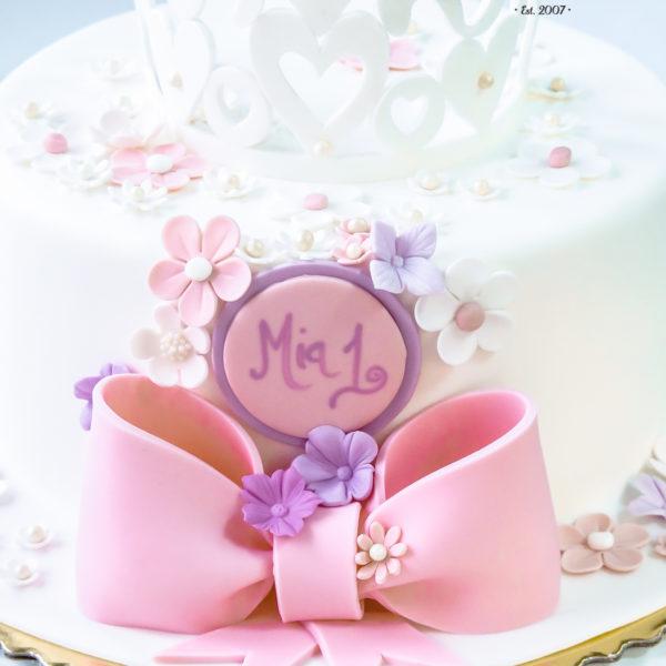 U405 - tort urodzinowy, na urodziny, dla dzieci, artystyczny, korona, pierwsze urodziny, z koroną, warszawa, z dostawą,