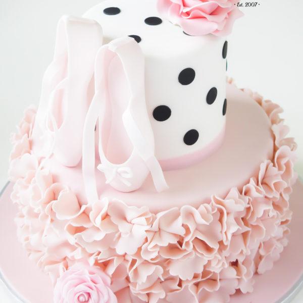 U407 - tort urodzinowy, na urodziny, taniec, balet, baletki, artystyczny, muzyka, dla dziewczynki