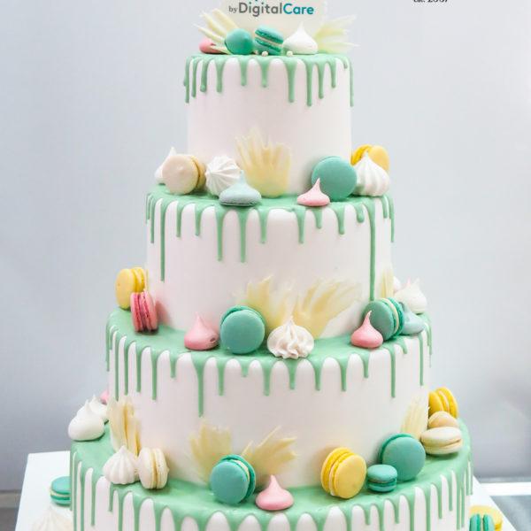 F151 - tort firmowy, artystyczny, dla firm, digital care, słodycze firmowe, reklamowe, personalizowane, warszawa, z logo, event