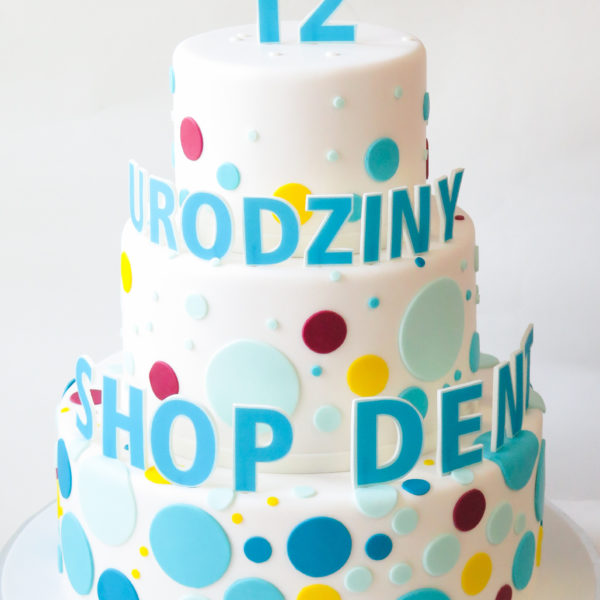 F152 - tort firmowy, artystyczny, dla firm, shop dent, słodycze firmowe, reklamowe, personalizowane, warszawa, z logo, event