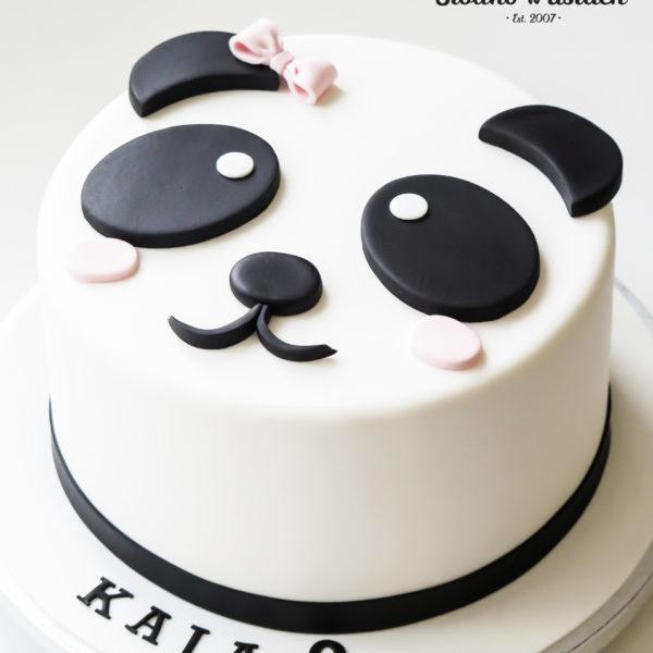 LM37 - tort urodzinowy, na urodziny, dla dzieci, artystyczny, last minute, miś, panda, na ostatnią chwilę, warszawa,