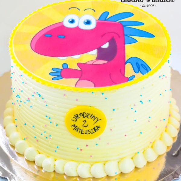 LM43 - tort urodzinowy, na urodziny, dla dzieci, klasyczny, last minute, smok , na ostatnią chwilę, warszawa,