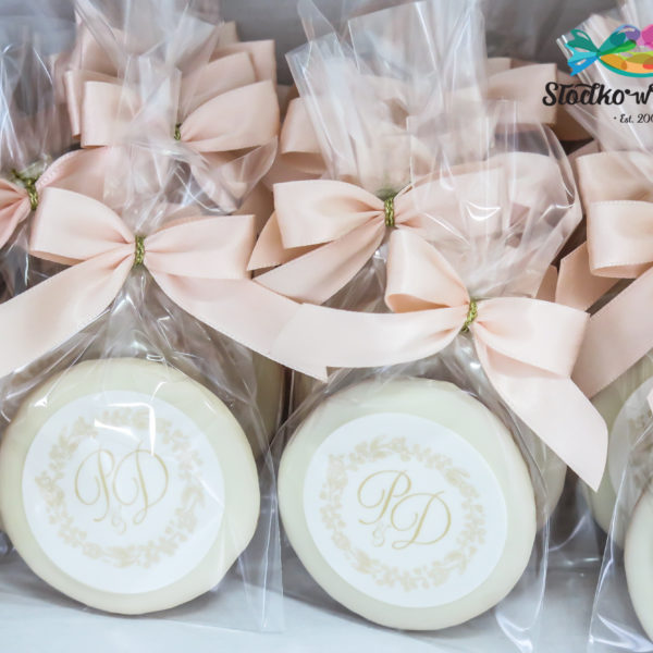 S71 - ciastka, kruche, monogram, na ślub, prezenty dla gości, ślubne, warszawa,