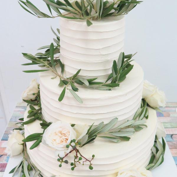 S73 - tort na ślub, wesele, ślubny, weselny, artystyczny, elegancki, piętrowy , bez masy cukrowej, z kwiatami, warszawa, z dostawą,