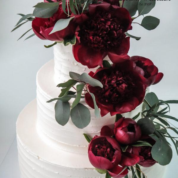 S74 - tort na ślub, wesele, ślubny, weselny, artystyczny, elegancki, piętrowy , bez masy cukrowej, z kwiatami, warszawa, z dostawą,