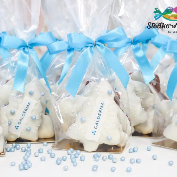 SW102 - pierniki, firmowe, dla firm, słodycze firmowe, reklamowe, personalizowane, Galderma, z dostawą, świąteczne, prezenty