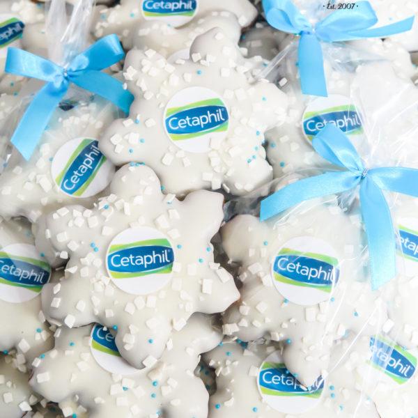 SW103 - pierniki, firmowe, dla firm, słodycze firmowe, reklamowe, personalizowane, Cetaphil, z dostawą, świąteczne, prezenty