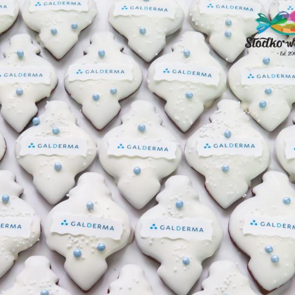 SW104 - pierniki, firmowe, dla firm, słodycze firmowe, reklamowe, personalizowane, Galderma, z dostawą, świąteczne, prezenty