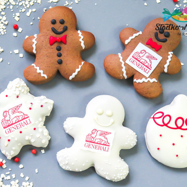 SW89 - pierniki, firmowe, dla firm, słodycze firmowe, reklamowe, personalizowane, Generali, z dostawą, świąteczne, prezenty