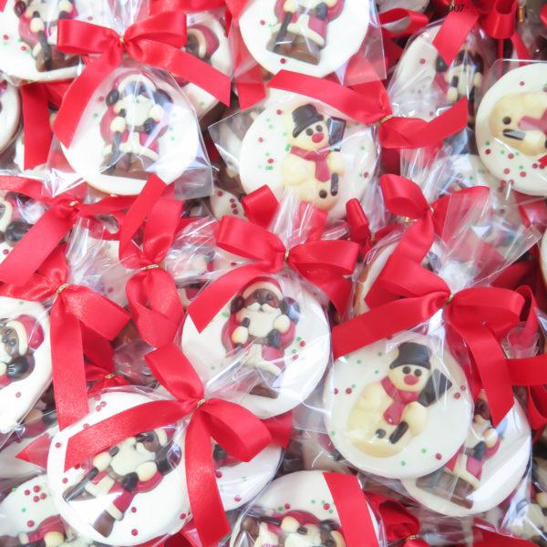 SW92 - ciastka kruche z czekoladkami, dla firm, słodycze firmowe, reklamowe, personalizowane, warszawa, świąteczne, prezenty, z dostawą