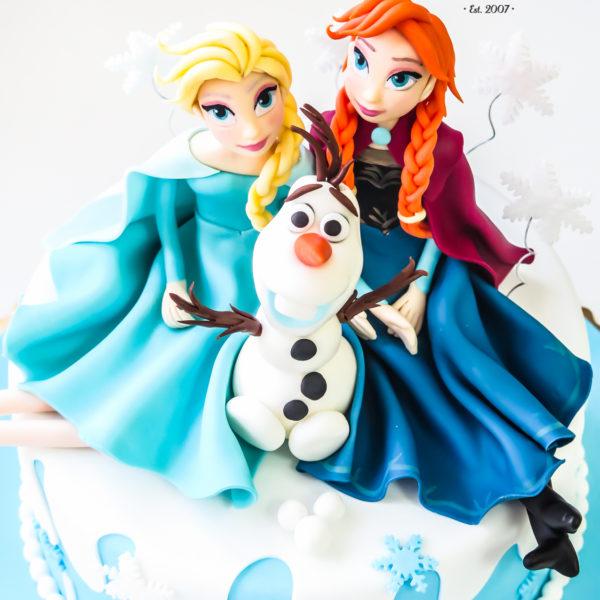 U142 - tort urodzinowy, na urodziny, dla dzieci, artystyczny, kraina lodu, księżniczka, elsa, konstancin jeziorna, warszawa, piaseczno