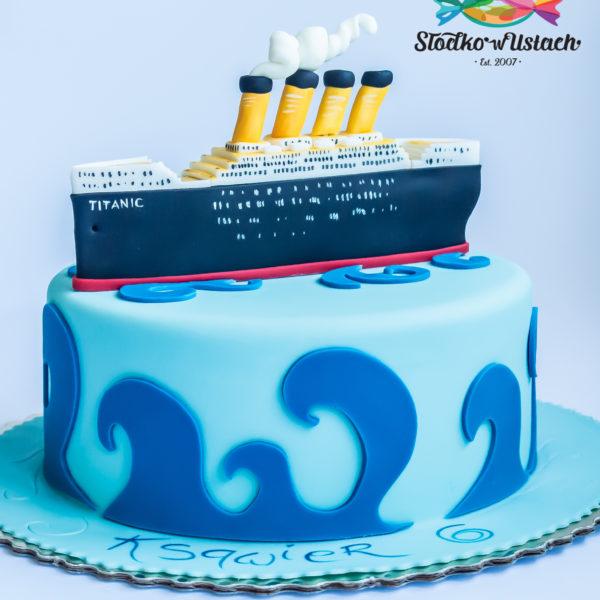 U171 - tort urodzinowy, na urodziny, titanic,statek, artystyczny, warszawa