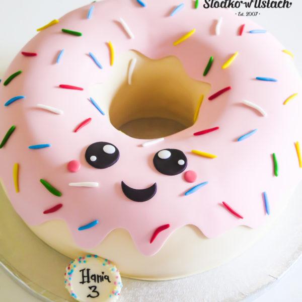 U413 - tort urodzinowy, na urodziny, dla dzieci, artystyczny, donut, pączek, warszawa