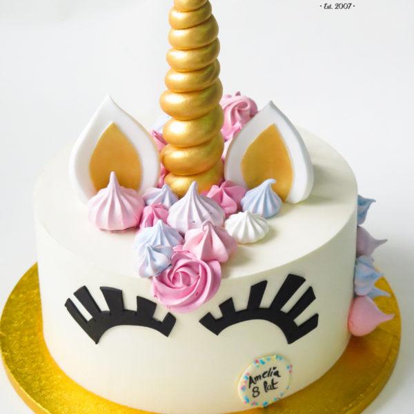 U415 - tort urodzinowy, na urodziny, dla dzieci, artystyczny, jednorożec, warszawa, z dostawą,