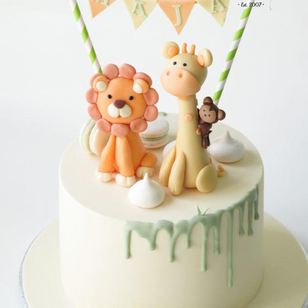 U417 - tort urodzinowy, na urodziny, dla dzieci, artystyczny, zwierzątka,
