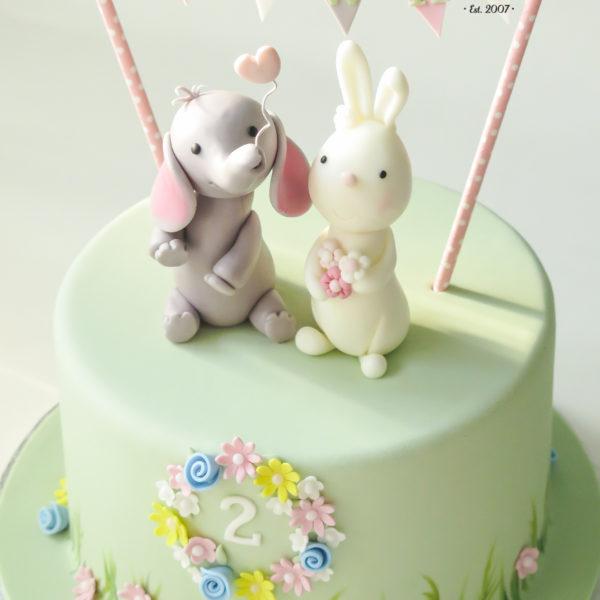 U420 - tort urodzinowy, na urodziny, dla dzieci, artystyczny, zwierzątka,