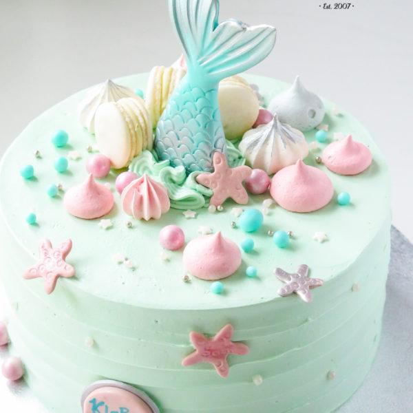 U422 - tort urodzinowy, na urodziny, dla dzieci, artystyczny, syrenka, z ogonem syrenki, warszawa, z dostawą,