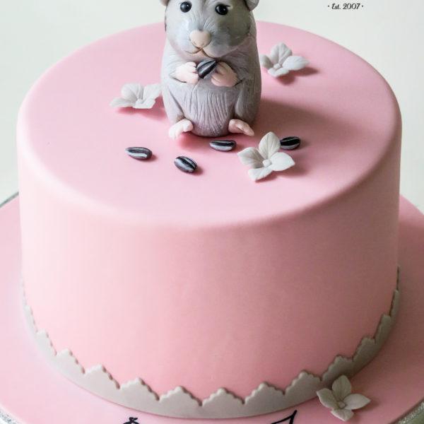 U424 - tort urodzinowy, na urodziny, dla dzieci, artystyczny, chomik, warszawa