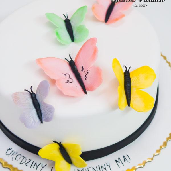 U427 - tort urodzinowy, na urodziny, artystyczny, kobiecy, motyle, warszawa, konstancin jeziorna