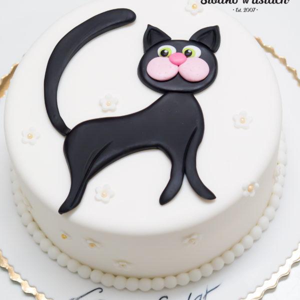 U428 - tort urodzinowy, na urodziny, dla dzieci, artystyczny, kotek, warszawa