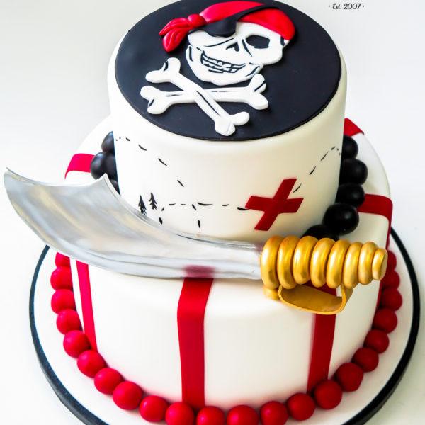 U429 - tort urodzinowy, na urodziny, dla dzieci, dla pirata, piraci, warszawa, piracki