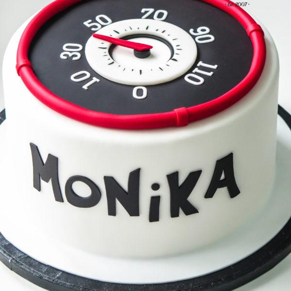 U430 - tort urodzinowy, na urodziny, artystyczny, kobiecy, hobby, auto, prędkościomierz, warszawa, konstancin jeziorna