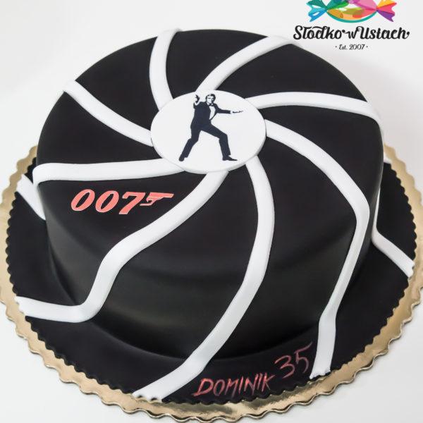 U437 - tort urodzinowy, na urodziny, james bond, męski, artystyczny, warszawa