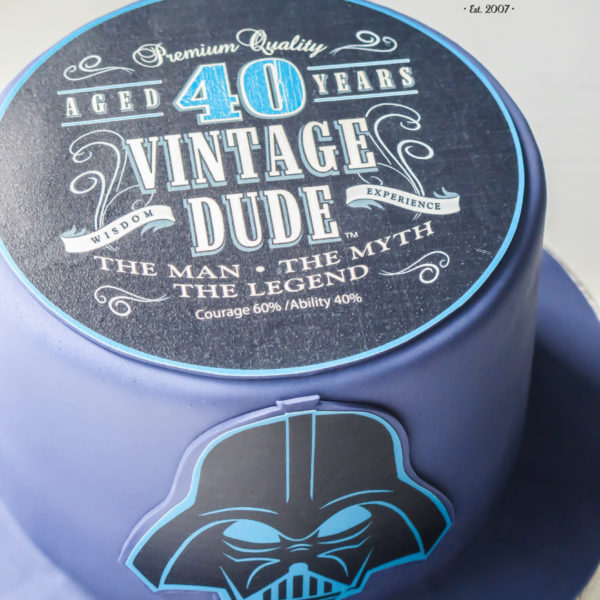 U446 - tort urodzinowy, na urodziny, męski, artystyczny, star wars, gwiezdne wojny, lord vader, warszawa, z dostawą,dla faceta, 40