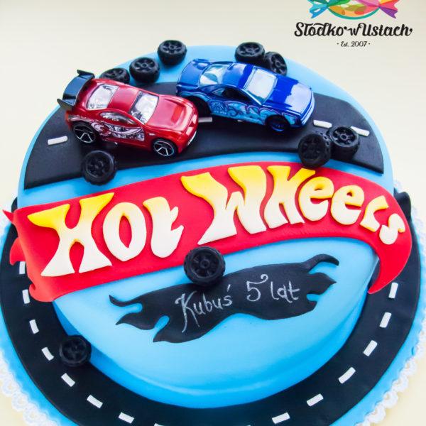 U447 - tort urodzinowy, na urodziny, dla dzieci, artystyczny, hot wheels, warszawa