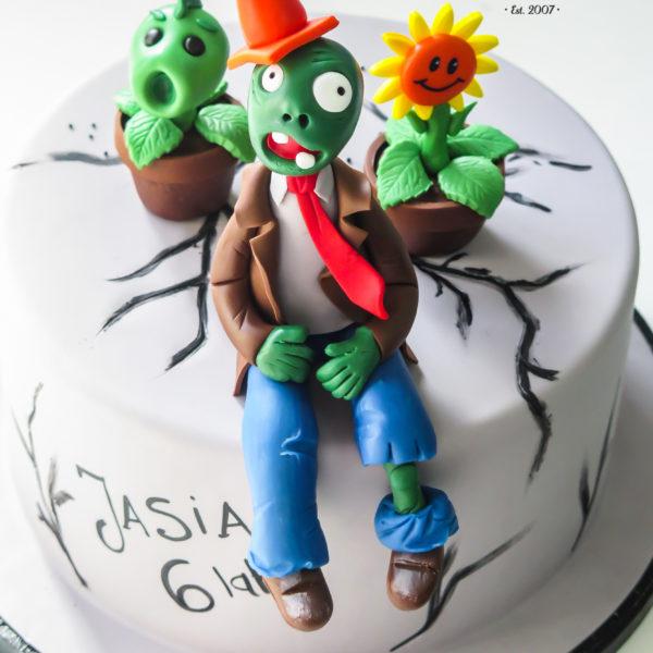 U452 - tort urodzinowy, na urodziny, dla dzieci, artystyczny, zombie, warszawa,