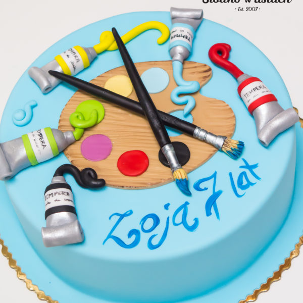U455 - tort urodzinowy, na urodziny, sztuka, farby, malowanie, artystyczny, warszawa, z dostawą, hobby, pasja