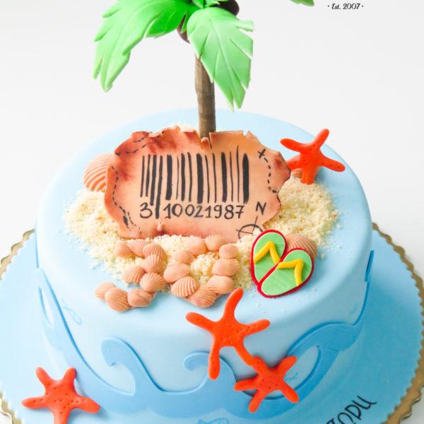 U458- tort urodzinowy, na urodziny, artystyczny, wyspa, podróże, travel, , warszawa, konstancin jeziorna, hobby, pasja,