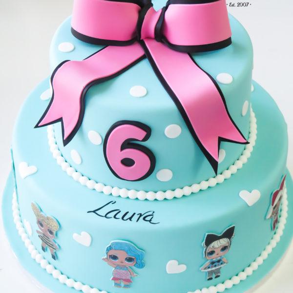 U460 - tort urodzinowy, na urodziny, dla dzieci, artystyczny, laleczki, lol surprise, warszawa,