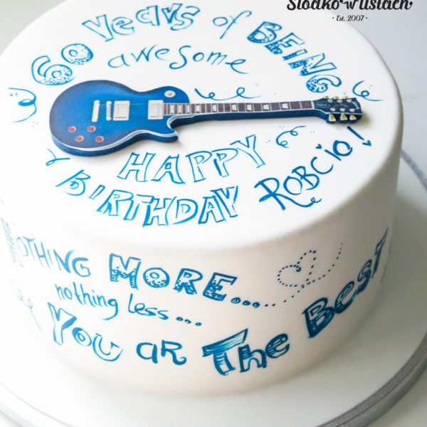 U461 - tort urodzinowy, na urodziny, artystyczny, hobby, pasja , gitara, muzyka ,rock, warszawa