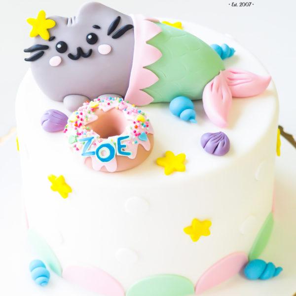 U462 - tort urodzinowy, na urodziny, dla dzieci, artystyczny, pusheen, warszawa