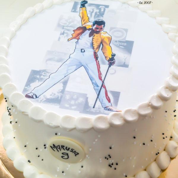 K41 - tort, klasyczny, ze zdjęciem, queen, z wydrukiem, warszawa, z dostawą, urodzinowy,