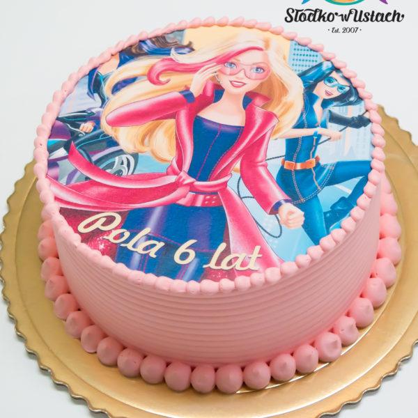 K50 - tort, klasyczny, barbie, ze zdjęciem, z wydrukiem, warszawa, z dostawą, urodzinowy, bez masy cukrowej,