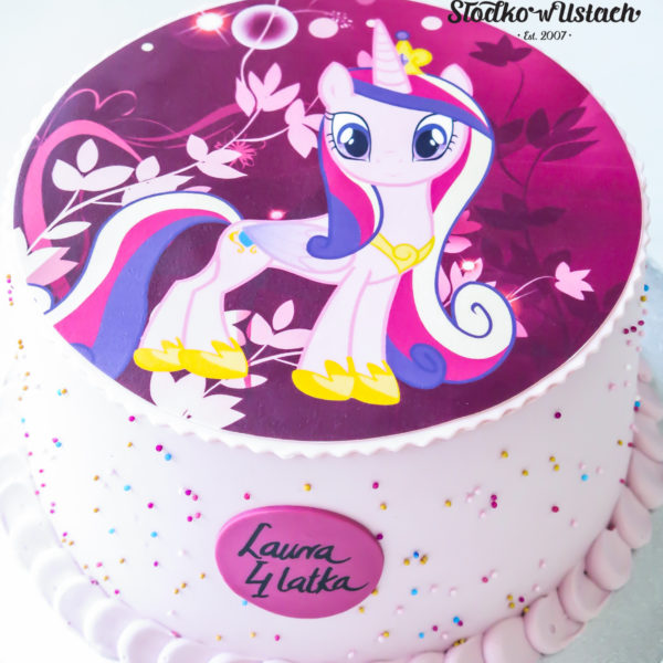 K51 - tort, klasyczny, konik pony, ze zdjęciem, z wydrukiem, warszawa, z dostawą, urodzinowy, bez masy cukrowej,