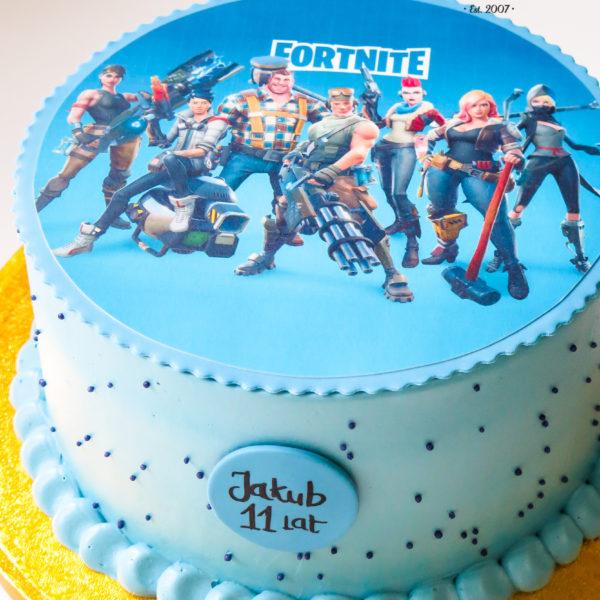 K52 - tort, klasyczny, fortnite, ze zdjęciem, z wydrukiem, warszawa, z dostawą, urodzinowy, bez masy cukrowej,