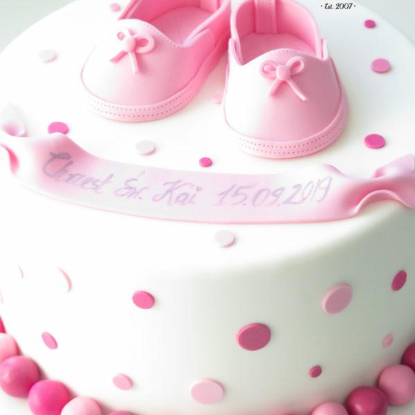 KCH71 - tort na chrzciny, chrzest, dla dziewczynki, buciki, warszawa, konstancin jeziorna, piaseczno