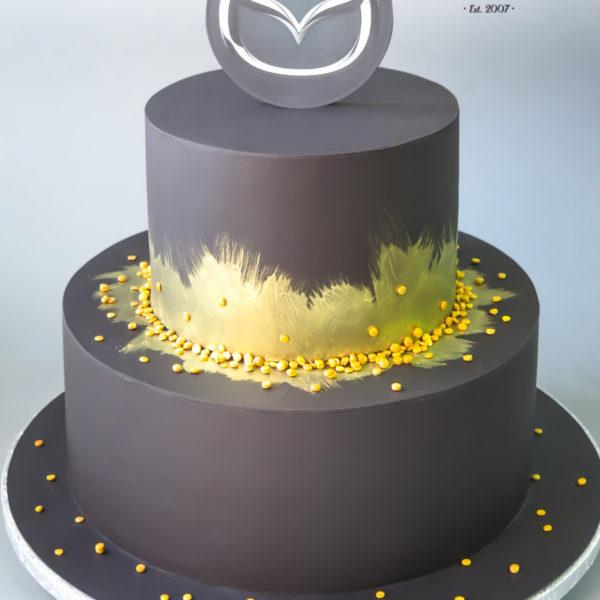 F174 - tort firmowy, artystyczny, jubileusz, dla firm, mazda, słodycze firmowe, reklamowe, personalizowane, warszawa, z logo, event, tort z dostawą, transportem warszawa, piaseczno, konstancin jeziorna, góra kalwaria, polska