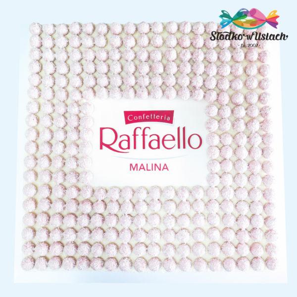 F182 - tort firmowy, klasyczny, dla firm, raffaello, ferrero, słodycze firmowe, reklamowe, personalizowane, warszawa, z logo, event, tort z dostawą, transportem warszawa, piaseczno, konstancin jeziorna, góra kalwaria