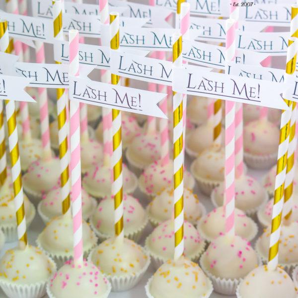 F183 - cake pops, dla firm, słodycze firmowe, reklamowe , personalizowane, słodko w ustach, lash me, z dostawą