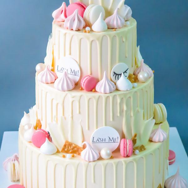 F186 - tort firmowy, klasyczny, dla firm, lash me, słodycze firmowe, reklamowe, personalizowane, warszawa, z logo, event, tort z dostawą, transportem warszawa, piaseczno, konstancin jeziorna, góra kalwaria, polska