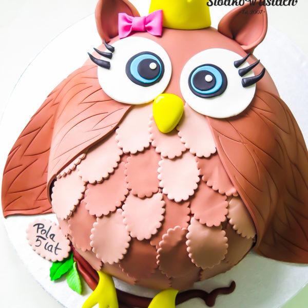 U42 - tort urodzinowy, na urodziny, dla dzieci, artystyczny, sówka, tort z dostawą, transportem warszawa, piaseczno, konstancin jeziorna, góra kalwaria, polska
