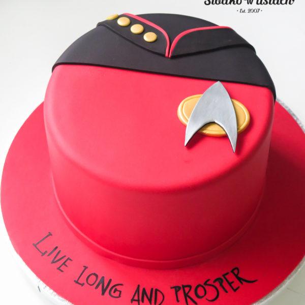 U471 - tort urodzinowy, na urodziny, dla dzieci, artystyczny, star trek, tort z dostawą, transportem warszawa, piaseczno, konstancin jeziorna, góra kalwaria, polska